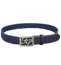 Fairy Powder FP20-1702 FP Logo Buckle Mesh Belt Navy
