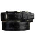 Alligator Embossed Black Dress Belt 2.0 ラチェット式ベルト