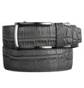 Alligator Embossed Grey Dress Belt 2.0 ラチェット式ベルト