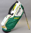 2020 PING Hoofer 14 Emerald/White/Yellow Custom Single Strap & Mr. PING Logo
