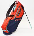 2021 PING Hoofer 14 Navy/Red/Turquoise Custom Single Strap