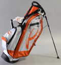 KJUS BIG LOGO GOLF STAND BAG WHITE