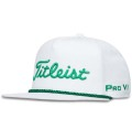2018 Titleist Tour Rope Flat Bill Cap White/HunterGreen