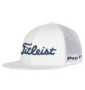 2020 Titleist Tour Flat Bill Mesh Cap White/Navy