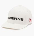 BRIEFING  CURVED VISOR CAP WHITE