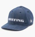 BRIEFING  CURVED VISOR CAP DENIM BLUE