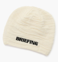 BRIEFING MENS CAMO BEANIE WHITE