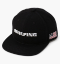 BRIEFING MENS FLATVISOR CAP BLACK