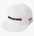 BRIEFING MENS FLATVISOR CAP WHITE