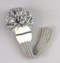 Jan Craig Headcovers Gray/White/Charcoal  Driver