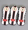 AM&E excors original Stripe Headcover Fairway White/Black  B/W Checker