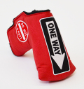 AM&E One Way x Do Not 3Putt Putter Cover Snap-Fit for Mid-Mallet Berry