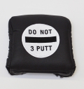AM&E Do Not 3Putt Universal Large Mallet Putter Cover Black/White