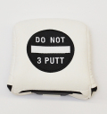 AM&E Do Not 3Putt Universal Large Mallet Putter Cover White/Black