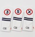 AM&E excors Original Stripe Fairway Headcover White