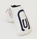 AM&E excors original Putter Cover Snap-Fit for Mid-Mallet ★★★★★ White/Navy