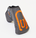 AM&E excors original Putter Cover Snap-Fit for Mid-Mallet ★★★★★ Flint(Charcoal)/Orange