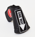 AM&E One Way x Do Not 3Putt Putter Cover Snap-Fit for Mid-Mallet Black