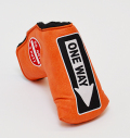 AM&E One Way x Do Not 3Putt Putter Cover Snap-Fit for Mid-Mallet Fire(Orange)