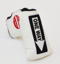 AM&E One Way x Do Not 3Putt Putter Cover Snap-Fit for Mid-Mallet White