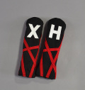 "Rose&Fire Black with Red ""Crazy Stripes"" Cordura Headcovers Hybrid"