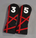 "Rose&Fire Black with Red ""Crazy Stripes"" Cordura Headcovers Fairway"