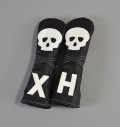 "Rose&Fire ""Skull"" Premium USA Leather Hybrid Headcovers"