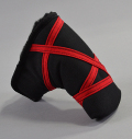 "Rose&Fire Black with Red ""Crazy Stripes"" Cordura Standard Putter Cover"