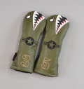 "Rose&Fire ""Bomber/Warhawk"" Premium USA Leather Fairway Headcovers"