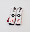 "Rose&Fire Limited Edition White Lether ""Bomber/Warhawk"" Premium USA Leather Hybrid Headcovers"