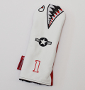 "Rose&Fire Limited Edition White Lether ""Bomber/Warhawk"" Premium USA Leather Driver Headcover"
