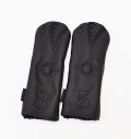 """Rose&Fire Limited Edition """"Blacked-Out Bomber/Warhawk"""" Premium USA Leather  Fairway Headcovers"""
