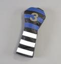 RMG Rugby Stripe Leather Fairway Headcovers
