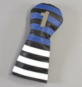 RMG Rugby Stripe Leather Driver Headcover