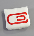 excors Magnetic Mallet Center Shaft Putter Cover White/Red