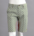Blood Shift BLS-137 Shorts Green Check