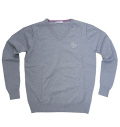 Fairy Powder FP19-5105 V-Neck Sweater Gray
