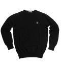 Fairy Powder FP19-5106 Cashmere Crew Neck Sweater Black