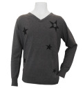 Fairy Powder FP20-5105A V-Neck Sweater Gray