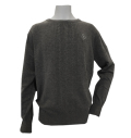 Fairy Powder FP20-5106 Cashmere Cable Knitting Sweater Gray