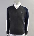 SubSeventy AS11004 Cashmere Panel Sweater Gray
