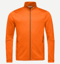 KJUS MEN DIAMOND FLEECE JACKET ORANGE