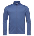 KJUS MEN DIAMOND FLEECE JACKET BLUE GRAY