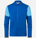 KJUS MEN DIAMOND FLEECE JACKET BLUE/AQUA