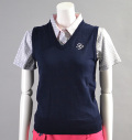 2017 Fairy Powder FP17-6106 Women's Stretch Cotton V-Neck Vest Navy