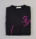 Fairy Powder FP18-6105 Women's V-Neck Sweater Black