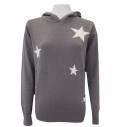 Fairy Powder FP20-6105A Women's Hoodie Sweater Gray
