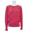 Fairy Powder FP20-6106 Women's Cashmere Cable Knitting Sweater Pink