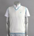 Tranvi TRKTB-02 V-Neck Vest White/Blue