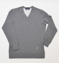 Tranvi TRCTB-08 V-Neck Tech Pullover Heather Gray